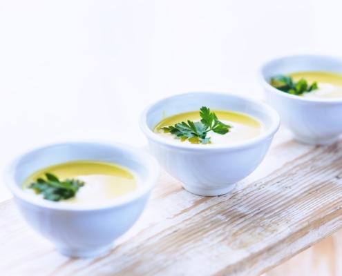 Kartoffel Suppe mit Huhn