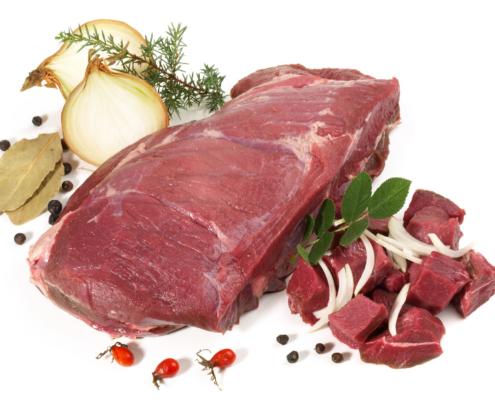 Wildschweinragout Fleisch